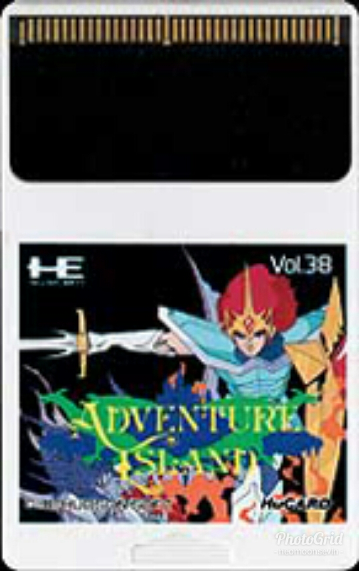 Front boxart of the game Adventure Island (Japan) on NEC PC Engine