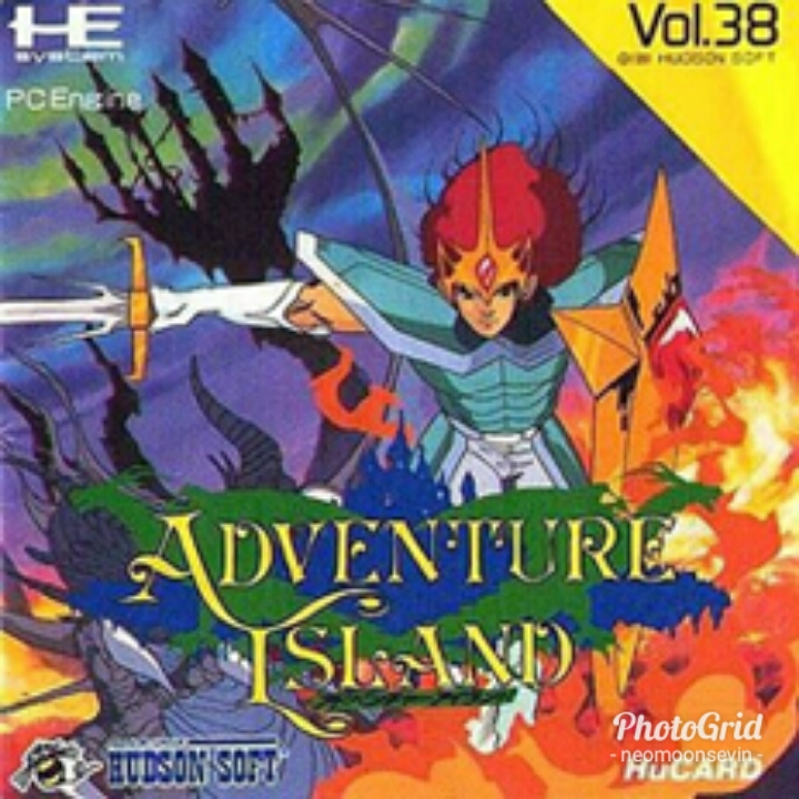 Back boxart of the game Adventure Island (Japan) on NEC PC Engine