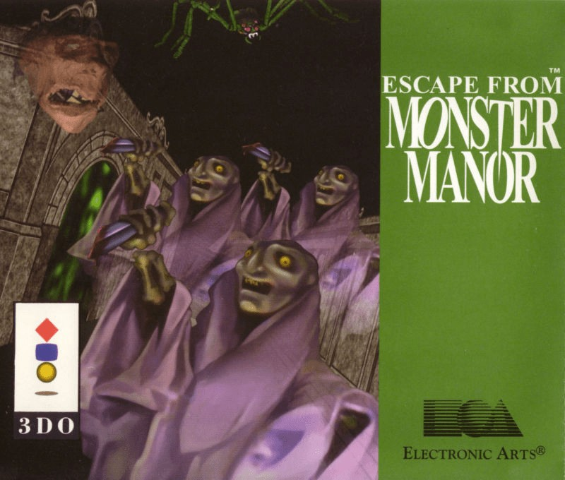 Front boxart of the game Escape from Monster Manor - A Terrifying Hunt for the Undead (Europe) on 3DO