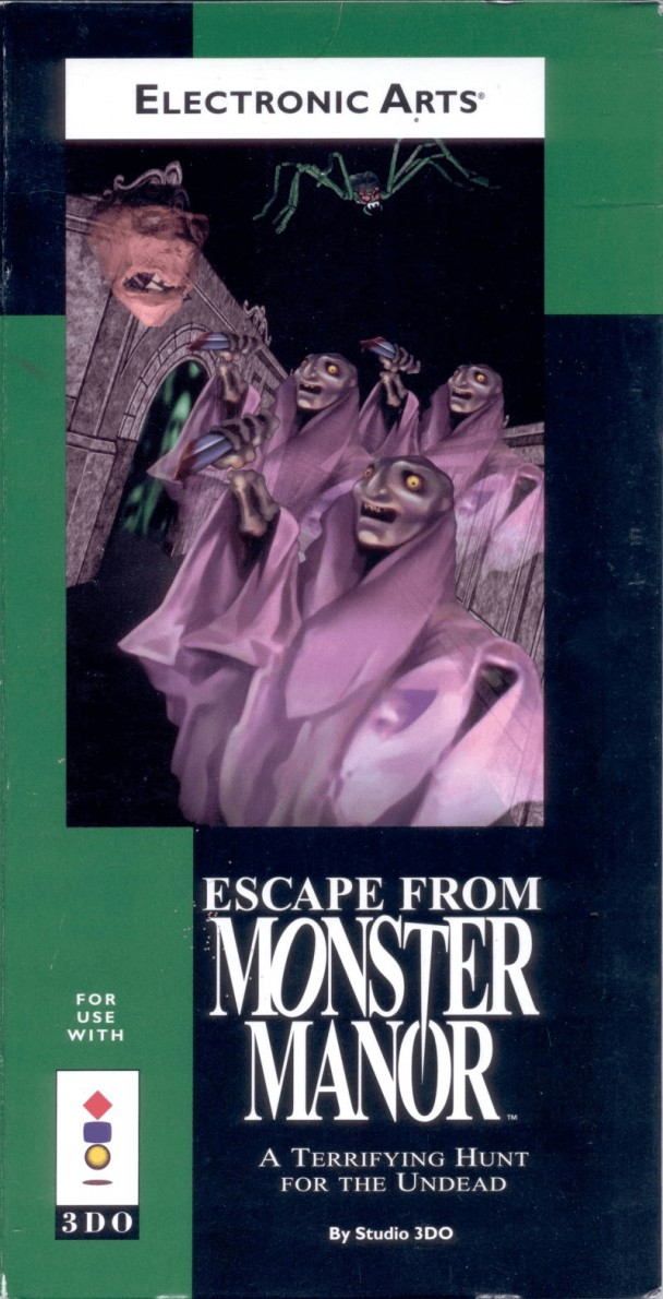 Front boxart of the game Escape from Monster Manor - A Terrifying Hunt for the Undead (United States) on 3DO