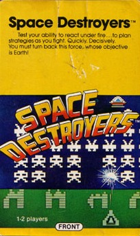 Front boxart of the game Space Destroyers (United States) on APF Electronics Inc. APF-MP1000