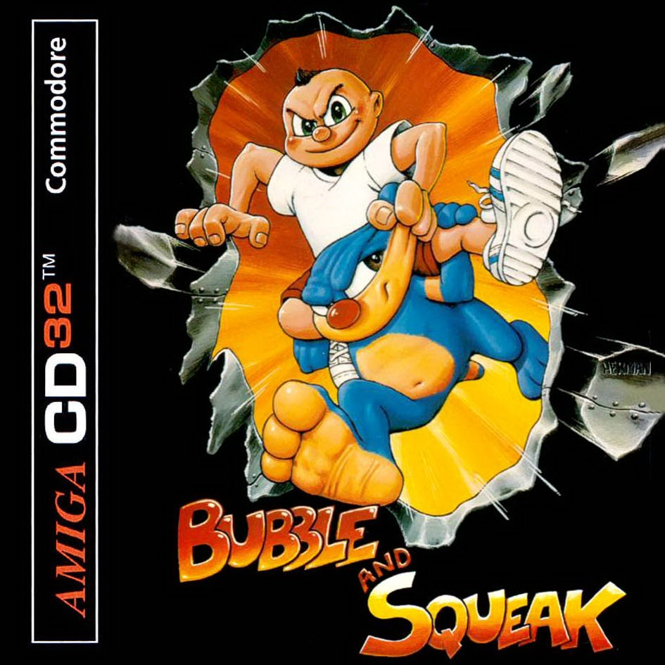 Front boxart of the game Bubble and Squeak on Amiga CD32