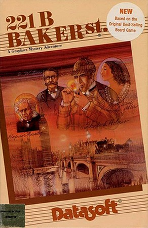Front boxart of the game 221b Baker Street (United States) on Apple II