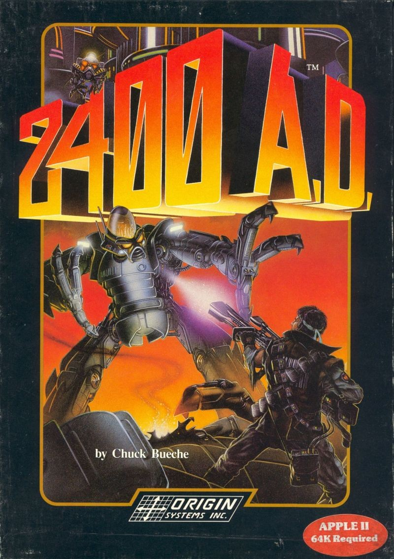 Front boxart of the game 2400 A.D. (United States) on Apple II