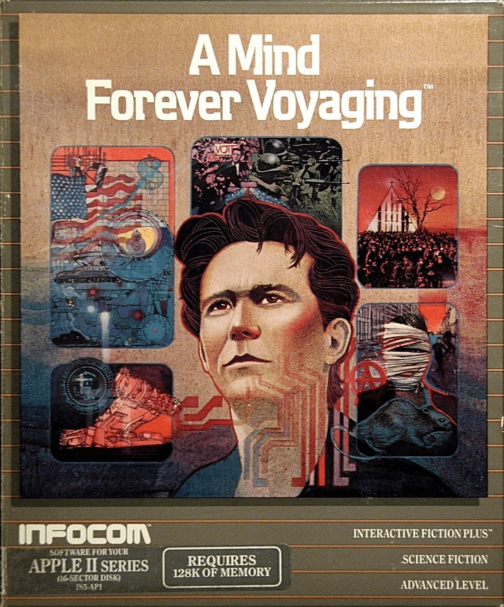Front boxart of the game A Mind Forever Voyaging (United States) on Apple II