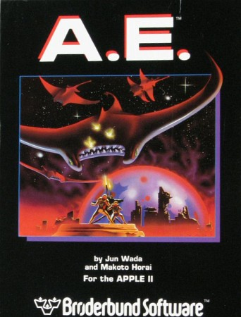 Front boxart of the game A-E (United States) on Apple II
