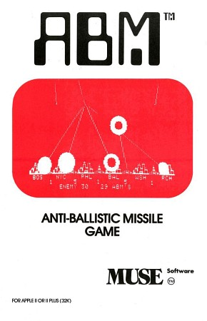 Front boxart of the game ABM (United States) on Apple II