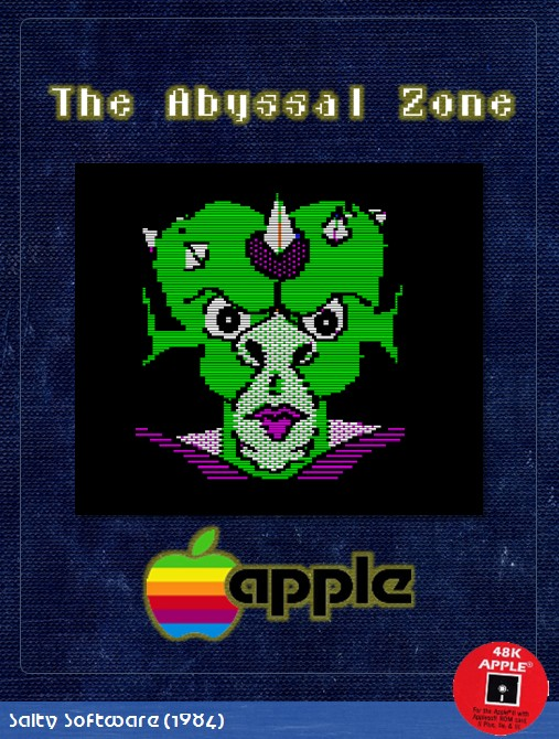 Front boxart of the game Abyssal Zone, The (United States) on Apple II