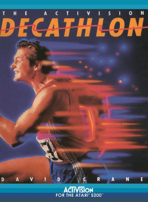 Front boxart of the game Activision Decathlon, The (Europe) on Atari 5200