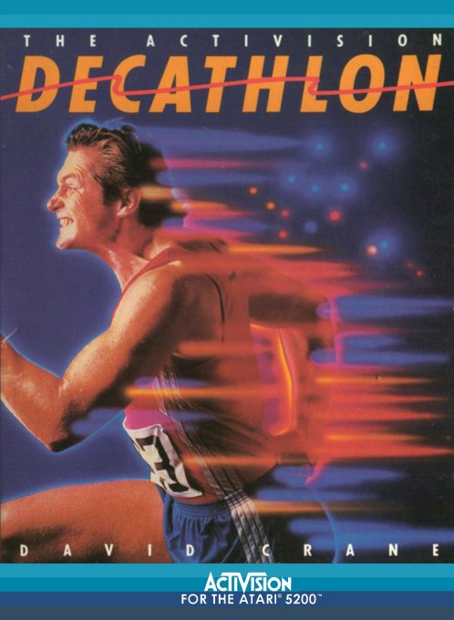 Front boxart of the game Activision Decathlon, The (United States) on Atari 5200