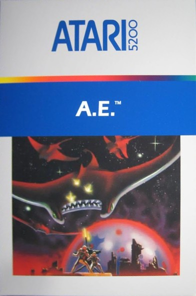 Front boxart of the game AE (United States) on Atari 5200