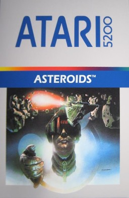 Front boxart of the game Asteroids (United States) on Atari 5200