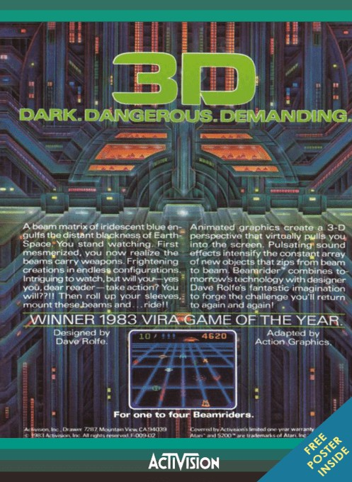 Back boxart of the game Beamrider (Europe) on Atari 5200