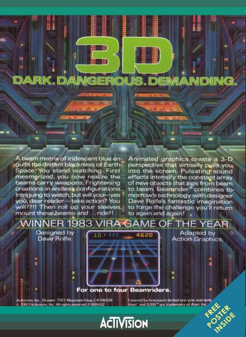 Back boxart of the game Beamrider (United States) on Atari 5200