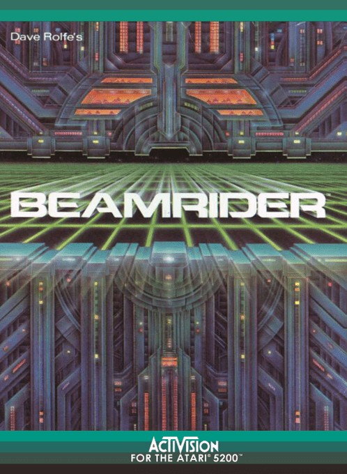 Front boxart of the game Beamrider (Europe) on Atari 5200