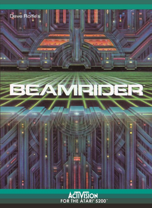 Front boxart of the game Beamrider (United States) on Atari 5200