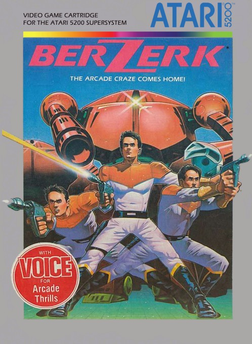 Front boxart of the game Berzerk (United States) on Atari 5200