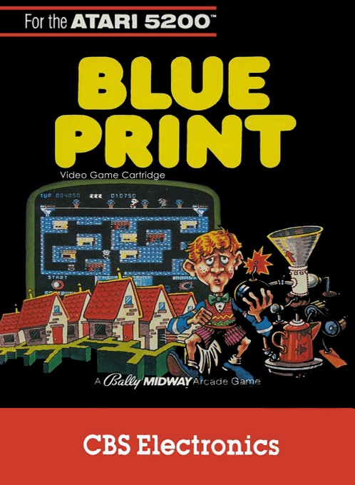 Front boxart of the game Blueprint (Europe) on Atari 5200