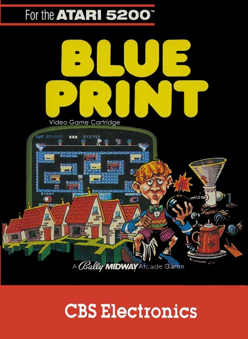 Front boxart of the game Blueprint (United States) on Atari 5200