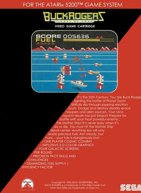 Back boxart of the game Buck Rogers - Planet of Zoom (Europe) on Atari 5200
