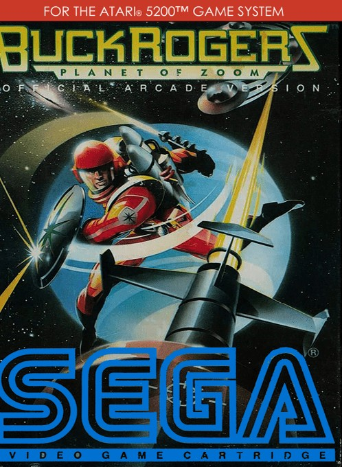 Front boxart of the game Buck Rogers - Planet of Zoom (Europe) on Atari 5200