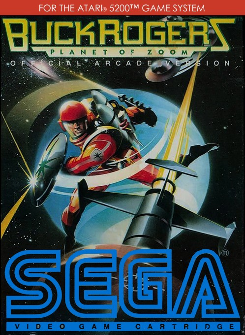 Front boxart of the game Buck Rogers - Planet of Zoom (United States) on Atari 5200