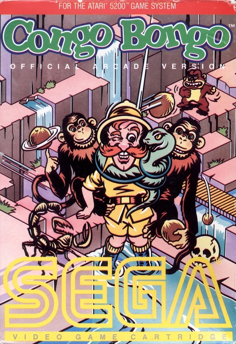 Front boxart of the game Congo Bongo (United States) on Atari 5200