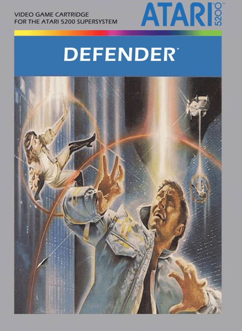 Front boxart of the game Defender (Europe) on Atari 5200