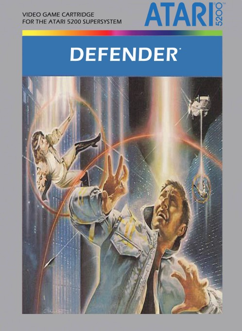 Front boxart of the game Defender (United States) on Atari 5200