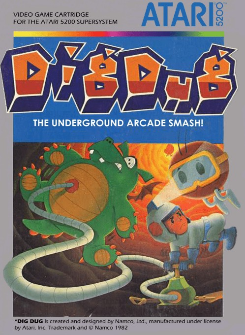 Front boxart of the game Dig Dug (Europe) on Atari 5200