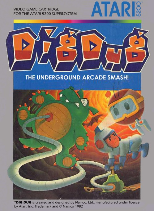 Front boxart of the game Dig Dug (United States) on Atari 5200