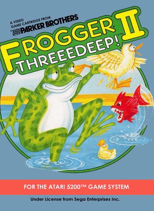 Front boxart of the game Frogger 2 - Threedeep! (Europe) on Atari 5200