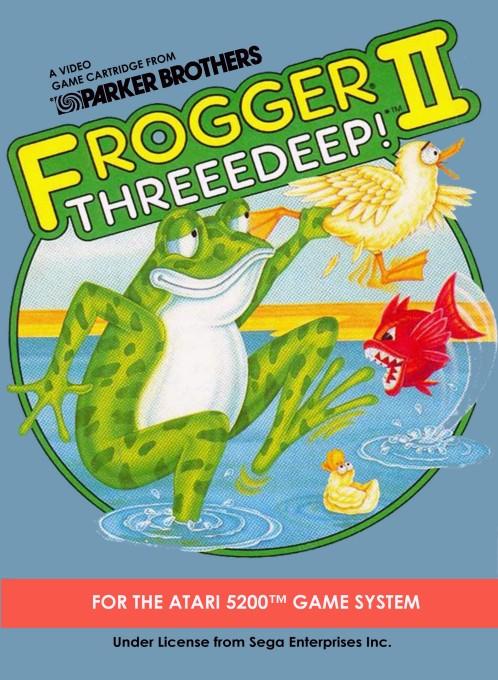 Front boxart of the game Frogger 2 - Threedeep! (United States) on Atari 5200