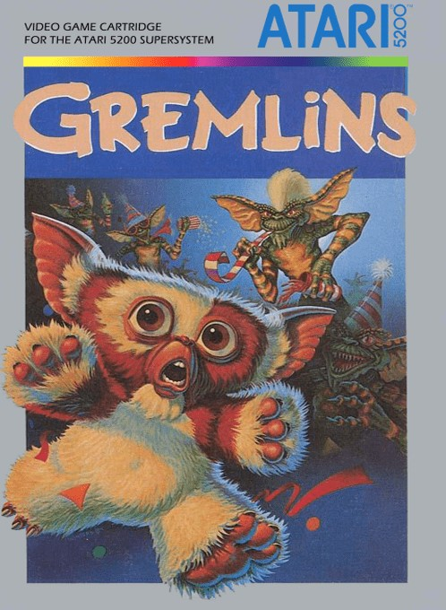 Front boxart of the game Gremlins (Europe) on Atari 5200