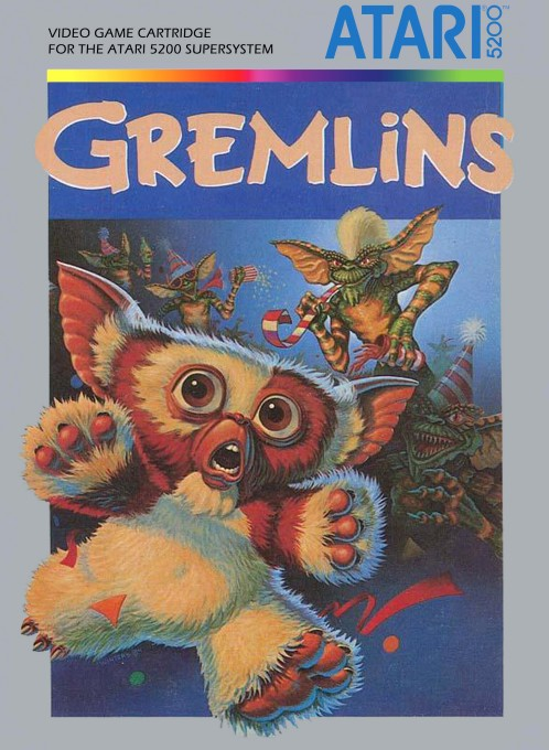 Front boxart of the game Gremlins (United States) on Atari 5200