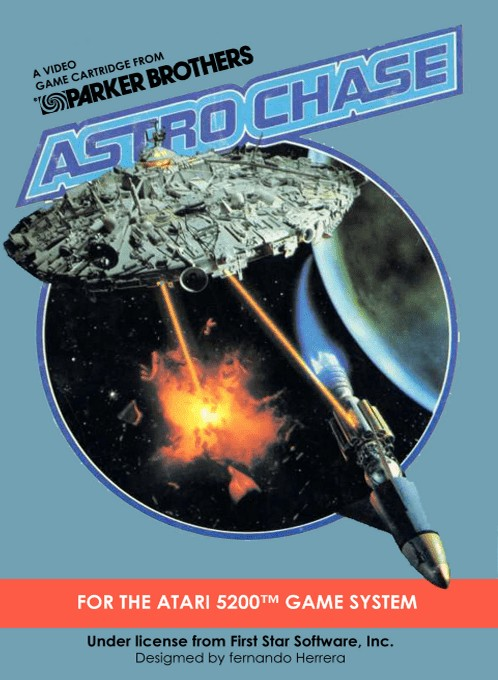 Front boxart of the game Astro Chase (Europe) on Atari 5200