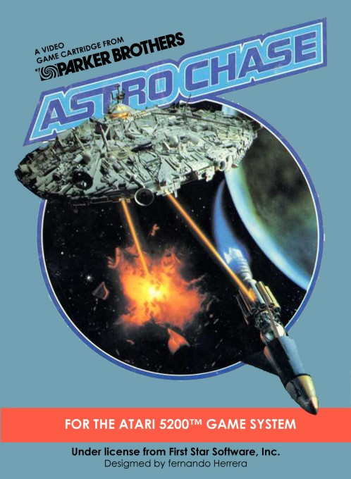 Front boxart of the game Astro Chase (United States) on Atari 5200