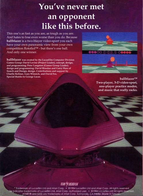 Back boxart of the game Ballblazer (United States) on Atari 5200