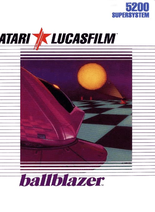 Front boxart of the game Ballblazer (Europe) on Atari 5200