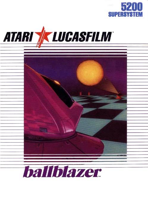 Front boxart of the game Ballblazer (United States) on Atari 5200