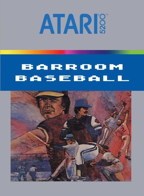 Front boxart of the game Barroom Baseball on Atari 5200