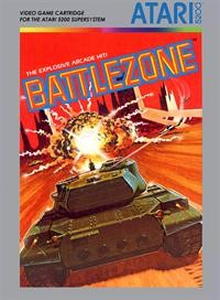 Front boxart of the game Battlezone on Atari 5200
