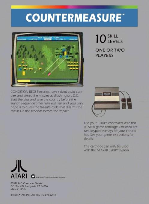 Back boxart of the game Countermeasure (United States) on Atari 5200