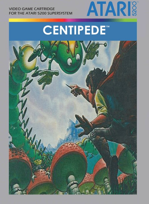 Front boxart of the game Centipede (Europe) on Atari 5200