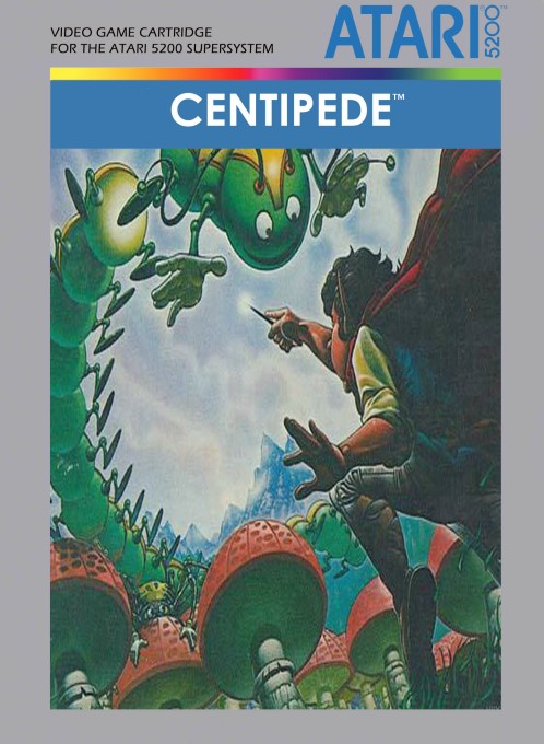 Front boxart of the game Centipede (United States) on Atari 5200