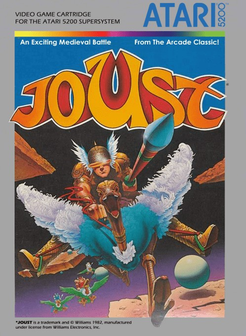 Front boxart of the game Joust (Europe) on Atari 5200