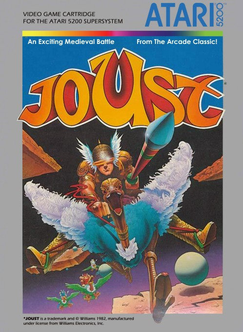 Front boxart of the game Joust (United States) on Atari 5200