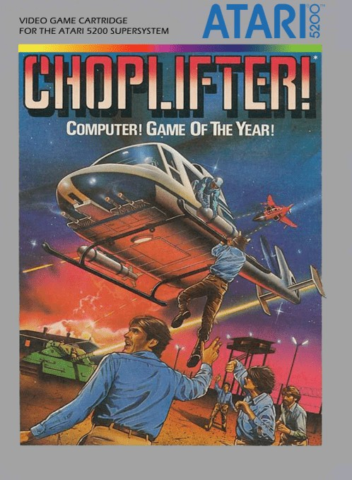 Front boxart of the game Choplifter (Europe) on Atari 5200