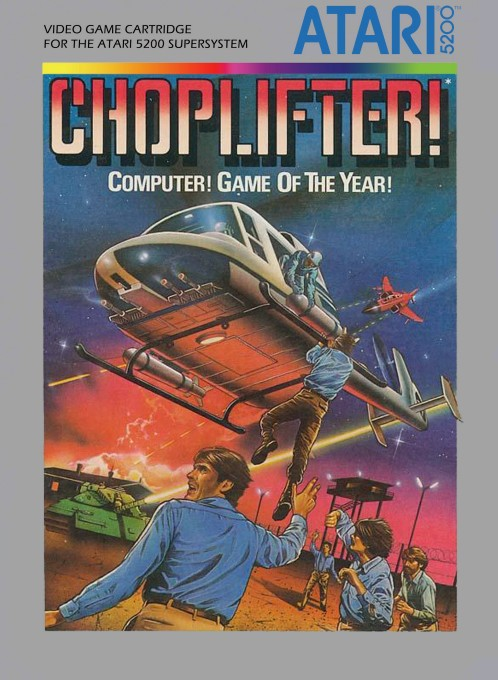 Front boxart of the game Choplifter (United States) on Atari 5200