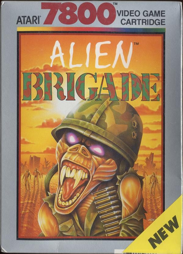 Front boxart of the game Alien Brigade (United States) on Atari 7800